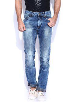 American Bull Men Blue Slim Fit Jeans