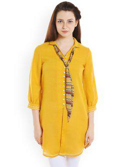 109F Yellow Solid Tunic