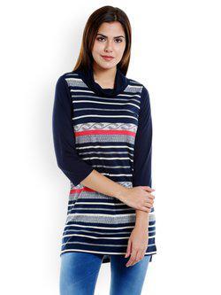 109F Blue Striped Tunic