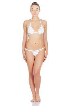 La Intimo - Real Feel G-String (White)