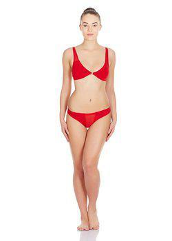 La Intimo - Transparent Window Panty (Red)