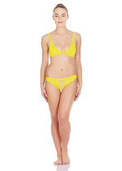 La Intimo - Transparent Window Panty (Yellow)