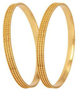 Aabhu Traditional Gold Plated Designer Bangles Jewellery For Women / Girls