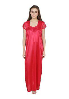 Lesuzaki Rani pink Color Nighty For Women