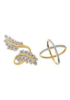 Aabhu CMB365 American Diamond Fancy Combo of 2 Party Wear Finger Rings Jewellery For Women And Girls