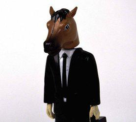 Accoutrements Creepy Horse Man Dashboard Wiggler 6 Vinyl Figure