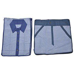 Arihant Collection Cotton 5.08 cms Blue Softsided Combo (Shirt & Trouser Covers)