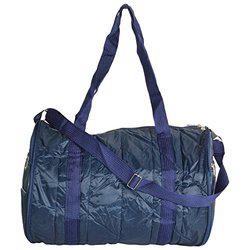 Arihant Collection PU 27.94 cms Blue Softsided Folding Bag (Dholak Style)