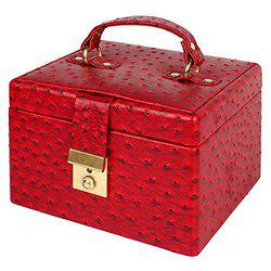 RICHPIKS Cherry Vanity Box with clasp lock and key