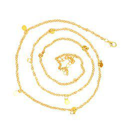 Joker & Witch Gold plated Metal chain Coin Waist chain for women