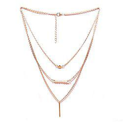 Joker & Witch Gold plated Metal chain Layered necklace for women