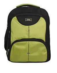 World Class Leather Matty 17.5 Ltrs Green School Bag