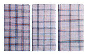 Polyester Lungi Assorted White Checks 2 Mtr. Pack of 3