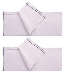 White Lungi/Sarong Pure Cotton (Pack of 2) by XYZ Textiles
