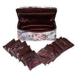 RICHPIKS Brown Jewelry Kit/Locker kit with 10 Pouches (PI272)