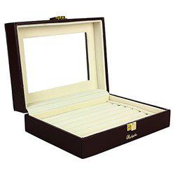 RICHPIKS Brown/coffee Wooden rings earrings pendal organizer Jewellery Box (PI 348)