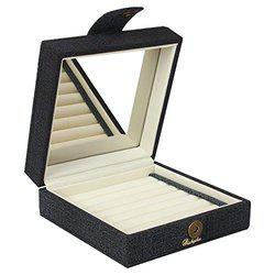 Richpiks Premium Collection Jewellery Rings/ earrings Organization box brown/coffee color (PI 414)