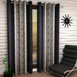 Home Sizzler Eyelet Polyester Window Curtain - 5ft, Grey