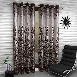 Home Sizzler Panel BFLY Set of 2 Window Curtains - 5 Feet Long