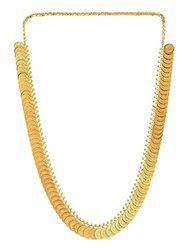 Aabhu Jewellery Traditional Gold Plated Temple Coin Ginni Necklace Long Chain for Women and Girl