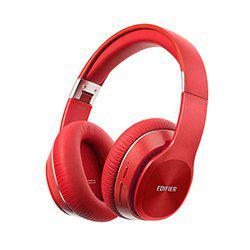 Edifier W820BT Bluetooth Headphones - Foldable Wireless Headphone with 80-Hour Long Battery Life - Red
