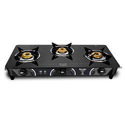 Preethi Zeal Glass 3 Burner Gas Stove (ISI Approved)