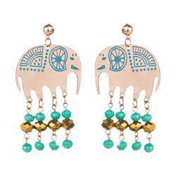 Beaded Elephant Earrings