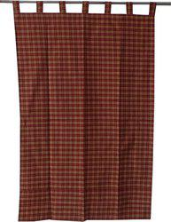 Adt Saral Cotton Red Geometric Eyelet Door Curtain(229 cm in Height, (7.4 ft), Single Curtain)
