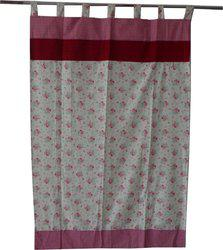 Adt Saral Cotton Multicolor Printed Eyelet Door Curtain(200 cm in Height, (6.4 ft), Single Curtain)