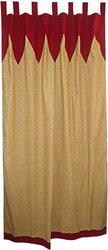 Adt Saral Cotton Multicolor Printed Tab Top Door Curtain(225 cm in Height, (7.2 ft), Single Curtain)