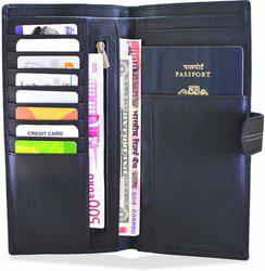 Arpera Travel Leather Passport Case Black C11546-1(Black)