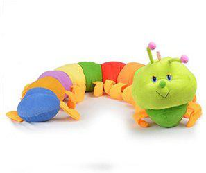 Welecom (TM) Welecom Caterpillar - Toddler Early Learning Basic Life Skills Children's Plush Travel Activity(Multicolor)