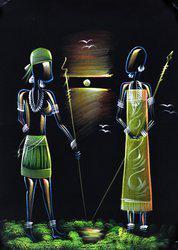 Style Homez SHHPWFOOV002 Acrylic Painting(28 inch x 20 inch)