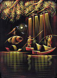 Style Homez SHHPWFOOV011 Acrylic Painting(28 inch x 20 inch)