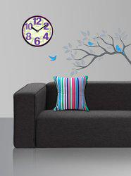 Style Homez Striped Cushions Cover(Pack of 2, 45 cm*45 cm, Multicolor)