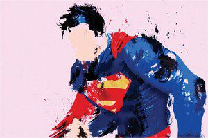 The Superman Paper Print(12 inch X 18 inch, Rolled)