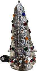 Brass Gift Center Brass Gaghara Lamp in Silver Antique Table Lamp(46 cm, Silver Antique)