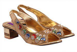 Fashbeat Women Golden Heels
