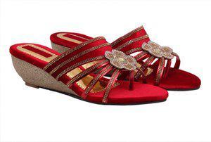 Fashbeat Women Red Wedges