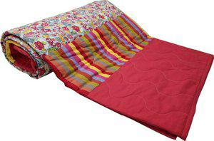 Adt Saral Printed Double Quilt, Comforter Multicolor