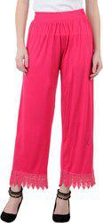 Lesuzaki Regular Fit Women's Pink Trousers
