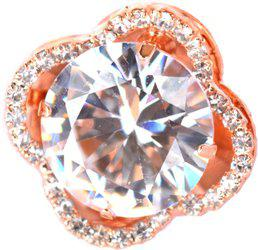 Aashya Mayro Alloy Cubic Zirconia Rose Gold Plated Ring