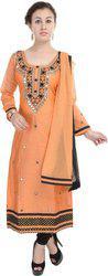 Aavaya Fashion Chanderi Embroidered Salwar Suit Dupatta Material(Un-stitched)