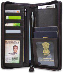 Arpera arpera leather passport holder for 2 passports,check book holder Dark Brown C11567-2(Brown)