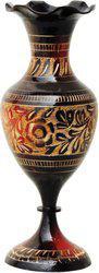 Brass Gift Center Flower pot with Handwork Brass Vase(7.5 inch, Multicolor)