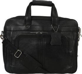 Bharat Leather Emporium 18 inch Expandable Laptop Messenger Bag(Black)