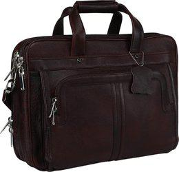 Bharat Leather Emporium 16 inch Expandable Laptop Messenger Bag(Brown)