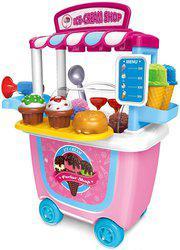 Saffire Ice Cream Parlour Shop Trolley Set, 31pcs