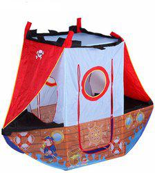 Saffire Pirate Ship Indoor and Outdoor Play Tent House with Balls, Washable and Foldable