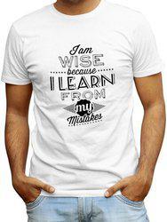 Redfool Fashions Printed, Graphic Print Men's Round Neck White T-Shirt